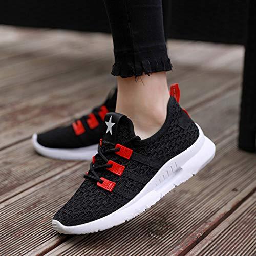 Fitnessmoda up Shoes Primavera Scarpe Ginnastica Sneakers Breathable Running Casual Donna Women Ragazza Scarpa Per Respirante Da Nero Estate Stampa Ihengh Lace Sport OanqwRPR