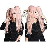 Free Hair Cap + Danganronpa Junko Enoshima Party Hair Cos Cosplay Wig Hallowmas
