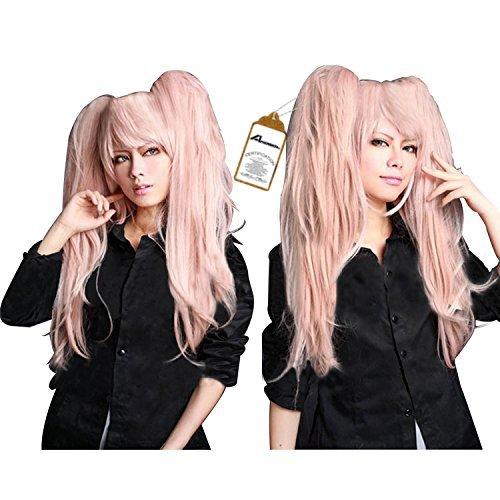 Junko Enoshima Cosplay Costume (Free Hair Cap + Danganronpa Junko Enoshima Party Hair Cos Cosplay Wig Hallowmas)