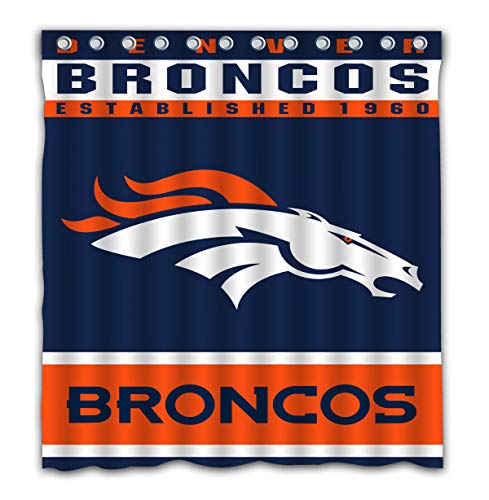 Toilet Environmental Phillips (Potteroy Denver Broncos Team Design Shower Curtain Waterproof Mildew Proof Polyester Fabric 66x72 Inches)