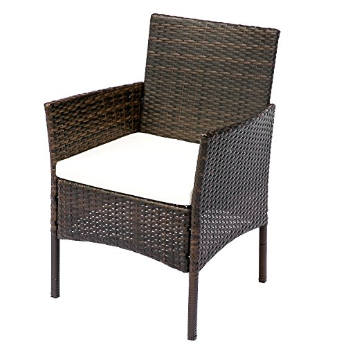 HANs Outdoor Rattan Furniture Sets 4PC Wicker Patio Furniture with Cushioned Seats by HANs (Image #3)