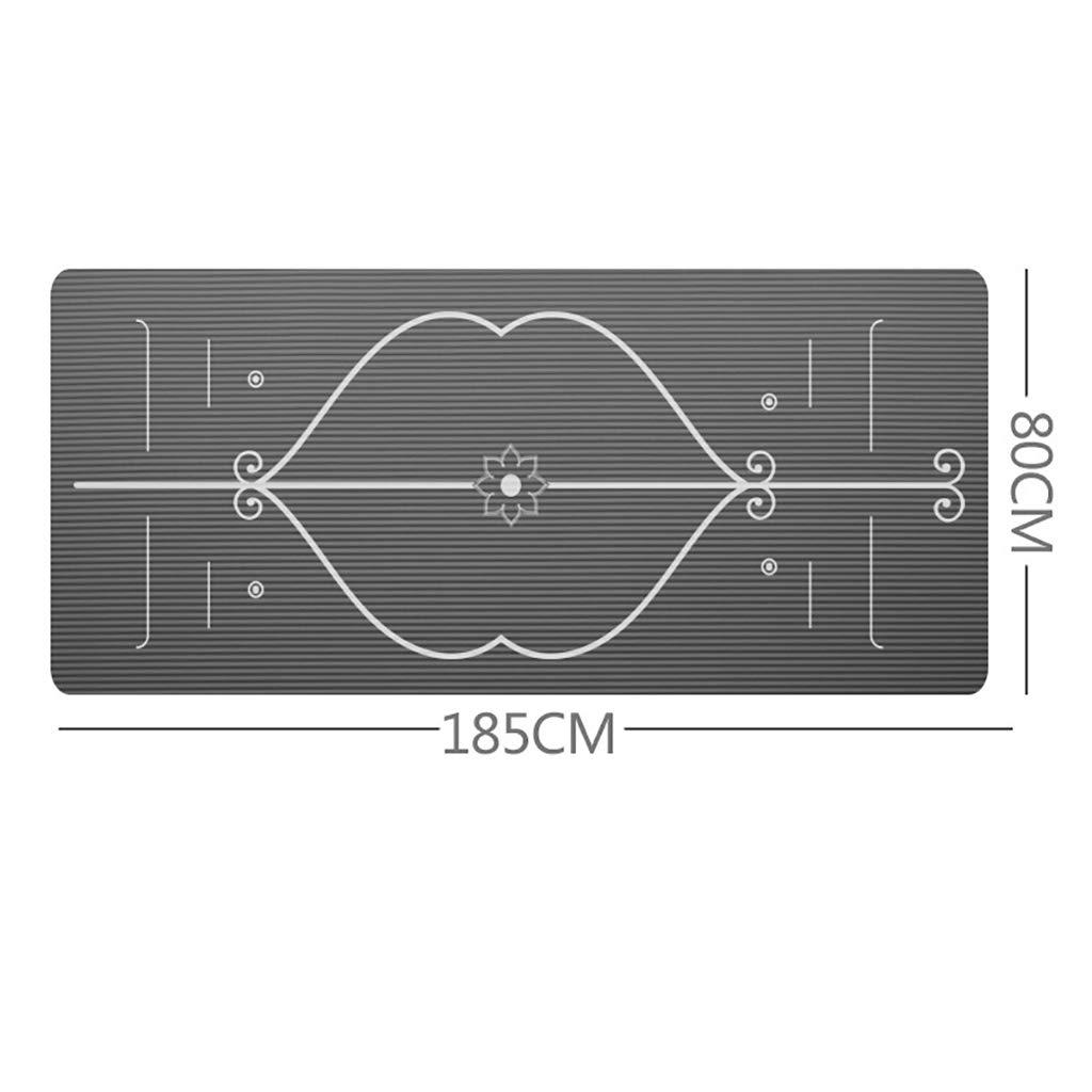 FS- ヨガマット/フィットネスマット15mmノンスリップエクササイズマットボディライン環境フィットネスマット  Gray B07KYGTKJW