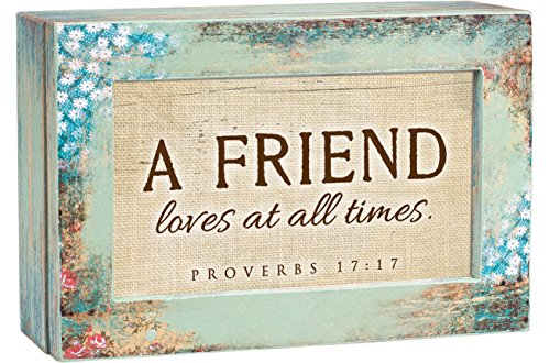 Cottage Garden A Friend Loves at All Times Distressed Wood Jewelry Music Box Plays Tune We Have a Friend in Jesus