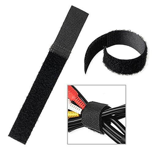 20mm*150mm Black Cable Ties Wire Cord Straps Reusable Hook L