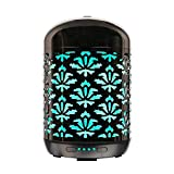 250ml COOSA 250ml Ultrasonic Aromatherapy Essential Oil Diffuser Cool Mist Humidifier Handmade Metal Home Decoration Auto Shut-Off with 4 Time Setting and Color Changing LED Light for Deco Spa Yoga Baby