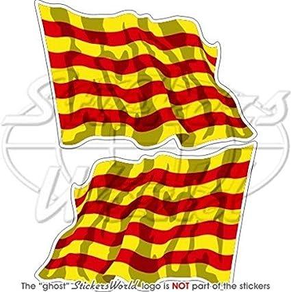 Cataluña catalán España La bandera de saludando de Catalunya 3 ...