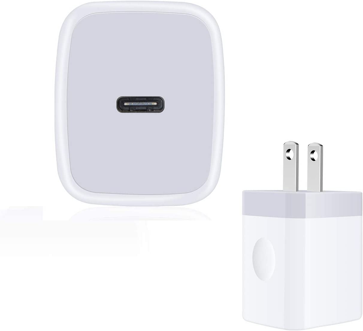 iPhone 12 Pro Max Charger Block Fast Charging, 18W Travel Power Adapter Single Port Wall Charger Plug PD Fast Charger Cube QC 3.0 USB C Charger Compatible for iPhone 12,12 Mini,12 Pro,11 Pro Max, SE