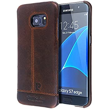 samsung leather cover for galaxy s7 - brown
