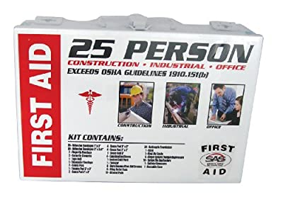 SAS Safety 6025-01 25-Person First-Aid Kit, Metal Box from SAS Safety Corp.