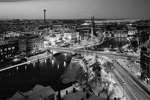 タンペレ、フィンランド壁紙-世界壁紙-#27263 - 白黒の キャンバス ステッカー 印刷 壁紙ポスター はがせるシール式 写真 特大 絵画 壁飾り50cmx33cm