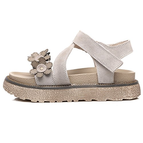 Shoes Simple Roman Estate Students Platform Shoes Sandali New Flat Femminile Universal Platform Alla Moda QQWWEERRTT Beach Cachi qHO1xZ
