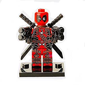 Deadpool Lego Mini Action Figure 2 Guns 2 Swords