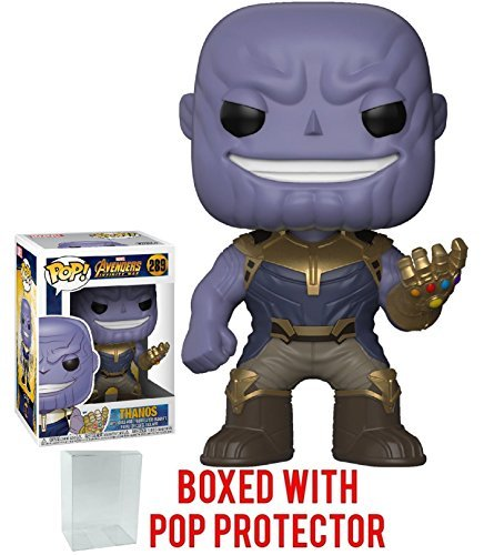 Funko Pop! Marvel: Avengers Infinity War - Thanos Vinyl Figure (Bundled with Pop Box Protector Case) ()