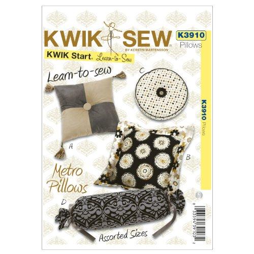 Kwik Sew K3910 Metro Pillows Sewing Pattern, No Size