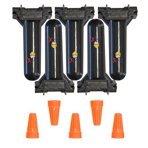 Dog Fence Wire Repair Splices - (5 Splice Kits) 100% Compatible with All Electric Dog Fence Systems - Repair or Install Underground Dog Fence Wire with Professional Waterproof Wire ()
