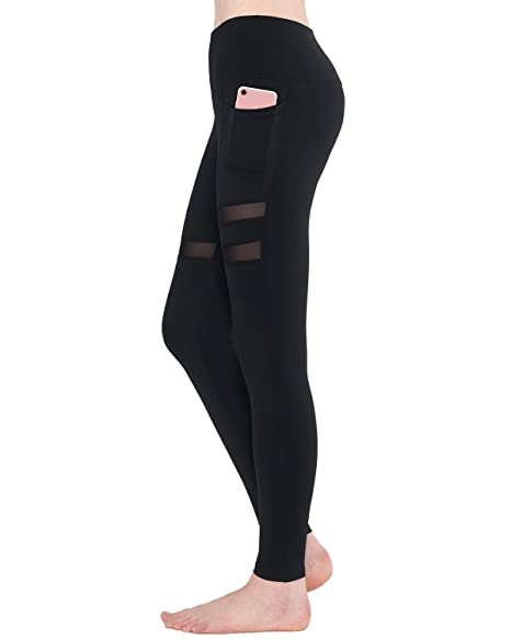 Amazon.com: Zeronic High Waist Yoga Pants with Pockets ...