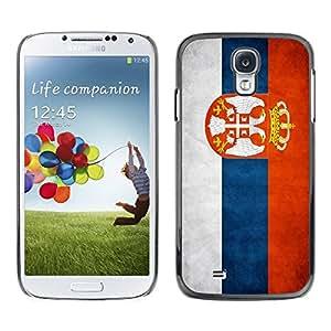 Paccase / SLIM PC / Aliminium Casa Carcasa Funda Case Cover - National Flag Nation Country Serbia - Samsung Galaxy S4 I9500