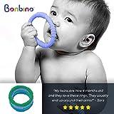 Bonbino Teether Rings - (4 Pack) Silicone Sensory