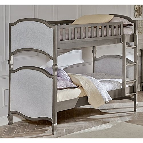 Hillsdale Furniture 30031N Kensington Victoria Bunk Bed, Twin Over Twin, Antique Silver