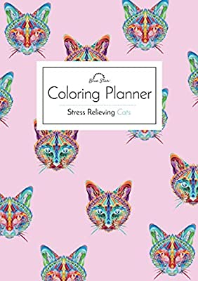 Coloring Daily Planner: Stress Relieving Cats