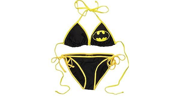 6bae4f79b24 Amazon.com  Batman Triangle String Bikini Swimsuit  Clothing