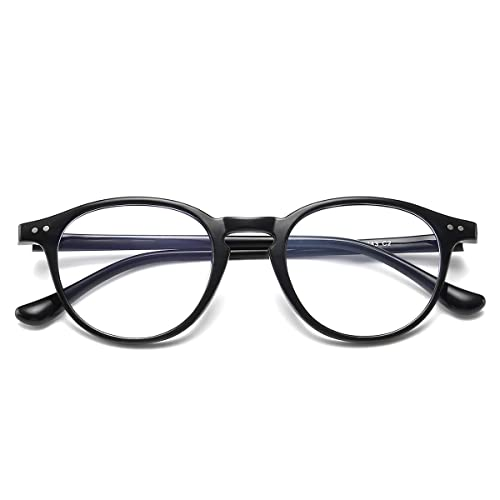 02cbaacd4 Amazon.com: Blue Light Blocking Glasses Vintage Round Frame Eyeglasses for Women  Men Black: Shoes
