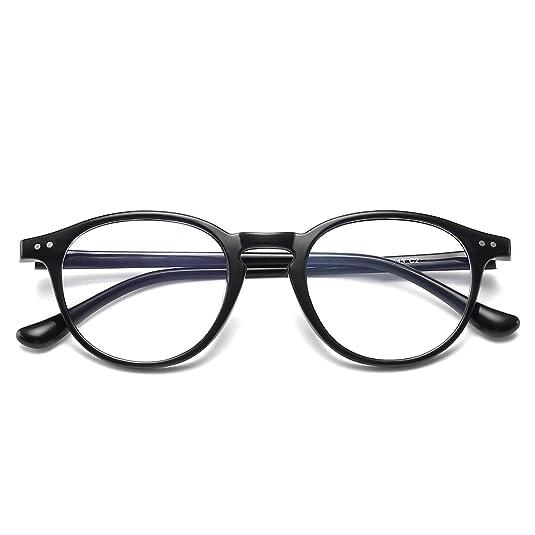 Blue Light Blocking Glasses Vintage Round Frame Eyeglasses For Women Men Black by Dollger