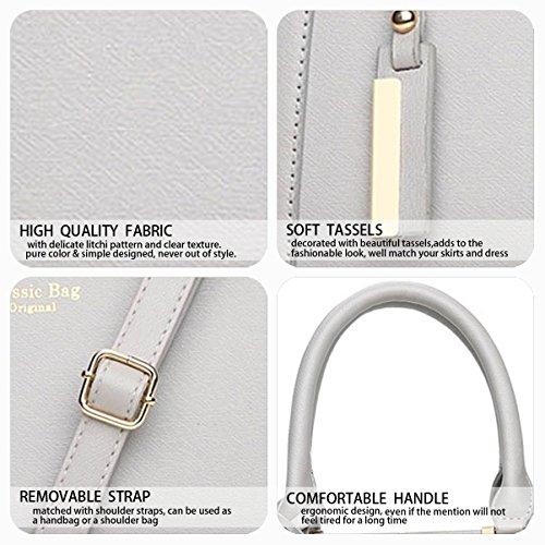Bags Bags Top Faux Leather Handle Grey Cross Shoulder Handbags Body Bags Women's 6Tw0qvUU