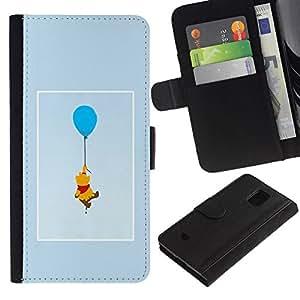 All Phone Most Case / Oferta Especial Cáscara Funda de cuero Monedero Cubierta de proteccion Caso / Wallet Case for Samsung Galaxy S5 Mini, SM-G800 // oso lindo dibujo personaje de dibujos animados