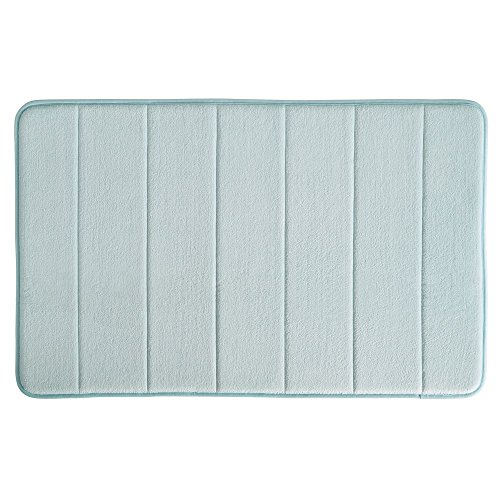 "InterDesign Soft Memory Foam Non-Slip Bath Mat for Bathroom, Tub Or Vanity, 34"" Inches x 21"" Inches, Water from InterDesign"