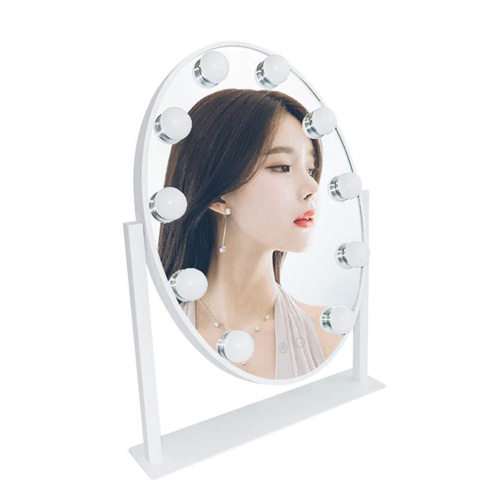 PHILLPS Desktop Oval Good LEU LED Makeup Mirror Vanity Mirror Touch with dimming Mirror European Princess Mirror