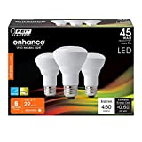 (6-Pack) Feit LED Dimmable R20 Soft White High Performance Light Bulb, 450-Lumen, 2700K, 45-Watt Equivalent, E26 Base, CRI 90+ (Soft White)