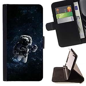 Momo Phone Case / Flip Funda de Cuero Case Cover - Espacio psicodélico Astronauta;;;;;;;; - Sony Xperia Z5 5.2 Inch (Not for Z5 Premium 5.5 Inch)