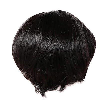 Peluca corta de Rifuli® para mujer, peluca larga sintética y ...