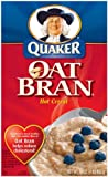 Quaker Oat Bran Hot Cereal, with Fiber and Protein, 16 oz Box (Pack of 6)