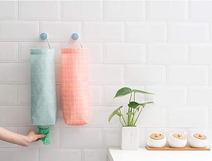 Soporte de plástico para bolsas de almacenamiento, 2 piezas, impermeable, soporte de pared