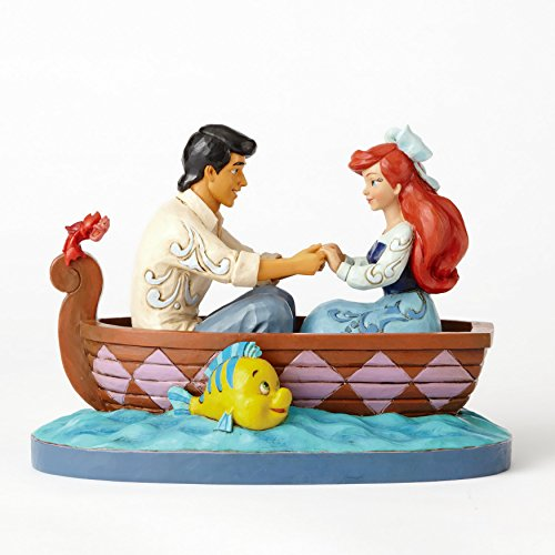 Enesco Jim Shore Disney Traditions Ariel and Prince Eric in Rowboat Figurine