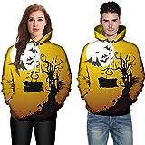 Ennglun-sweatshirts Men's Outwear,Men Women Mode 3D Print Long Sleeve Halloween Couples Hoodies Top Blouse Shirts (XXXL, Yellow)