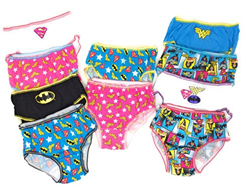 DC Comics Justice League 10-Pack Girls Panties Underwear Wonderwoman Supergirl Batgirl