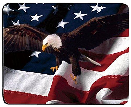 American Flag and Bald Eagle Mouse Mat Pad Mousepad