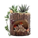 Adarl DIY Mini Creative Flower Pot Flower&Fruits Plants Seeds Gardening Pots Planters&Container Accessories Resin Bear Pots Big Review