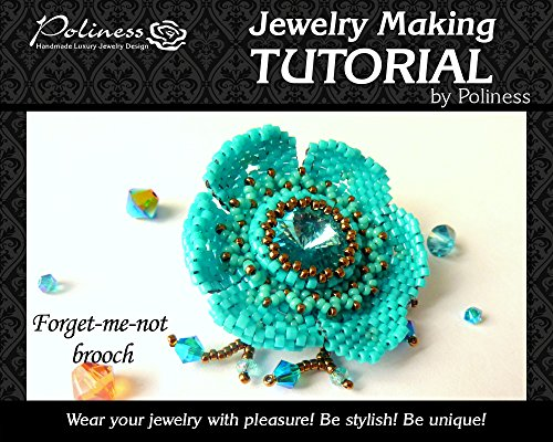 DIY Jewelry making Tutorial Beaded Flower, Step by step Beaded Pattern, Flower Pendant with Swarovski, Toho bead and Miyuki Delica ()
