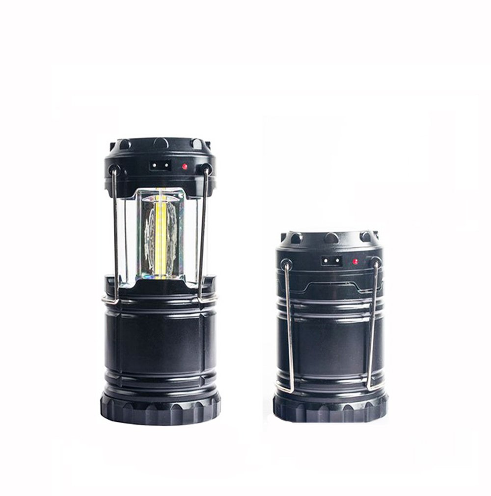 LITFAD Solar Camping Lantern Brightest Collapsible Outdoor COB Camping Light for Hiking,Emergencies,Hurricanes,Outages.