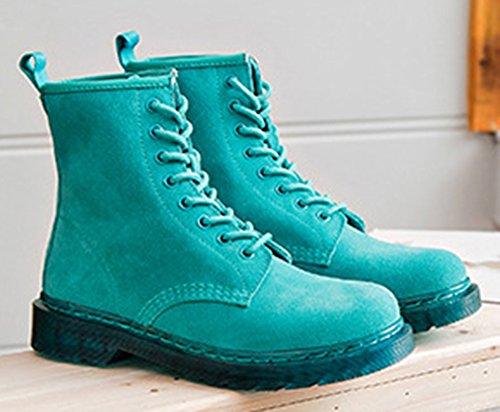 Low Vert Femme Unie Bottines boots Mode Aisun Couleur vAEwSg0gq