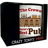 Personalised Pub Gifts Worlds Best Pub Mug Unique Publicans Bar Staff Presents by CRAZY TONYS