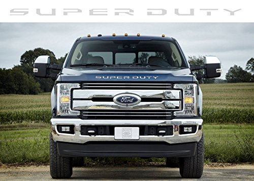 BDTrims Chrome Grille Letters for Ford Super Duty 2017 2018 ABS Plastic Inserts ()