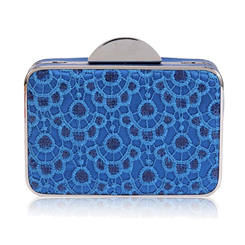 Damara Evening Womens Clutch Damara Graceful Sequins Bag Embroidered Blue Womens ZdRRFxn0