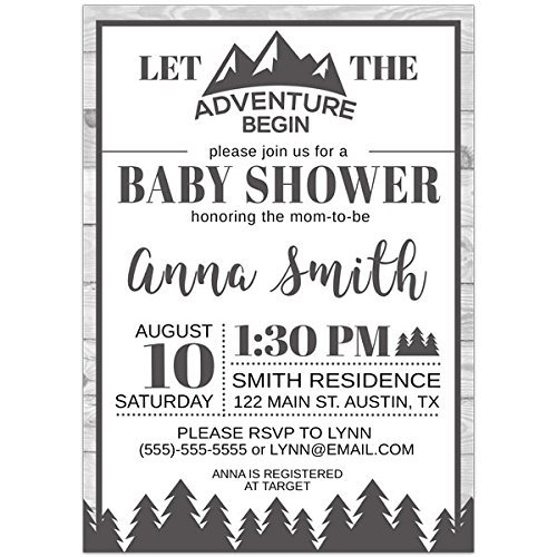 Adventure Baby Baby Shower Party Invitations