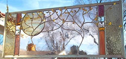 Wedding Stained Glass Window Panel personalized wedding anniversary tree