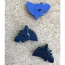 Castle Lego minifigure animal horse barding head armor armour dark blue earth blue violet lot of 3
